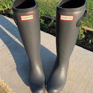 Beautiful Grey Hunter Rain boots Brand New